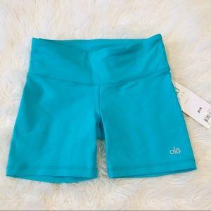 NWT Alo Yoga Turquoise Burn Shorts